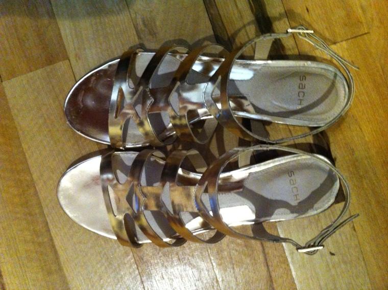 Sachi golden sandals