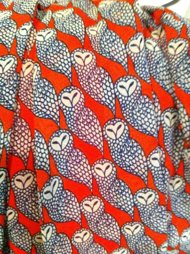 owl material print