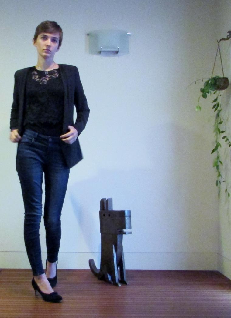 skinny jeans and vero moda blazer