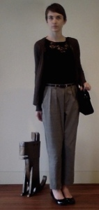 OOTD Checkered trousers