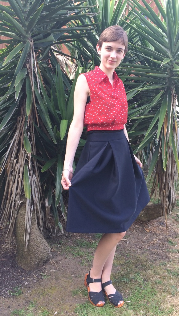 Outfit of the day midi skirt