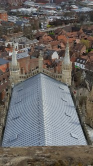View from the top of the York Minster