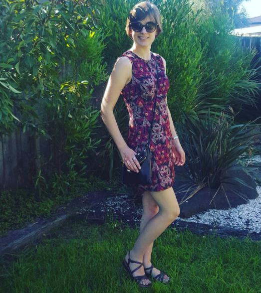 Geometric 1960s dress