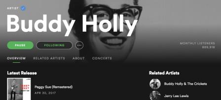 Buddy Holly Spotify